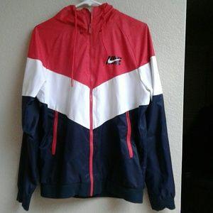 Nike windbreaker red/white/blue